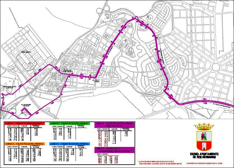 Horario de autobuses en Dos Hermanas | Línea 5