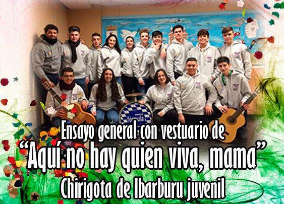 """Photo of Chirigota """"Aquí no hay quien viva, mamá"""" en Sala Hispano"""