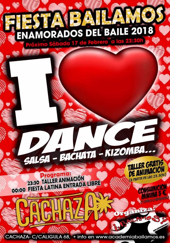 Fiesta Bailamos I love Dance en Cachaza Cafe