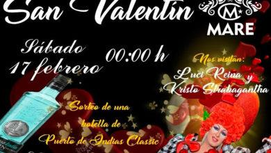 San Valentín con sorteo y animación en Mare