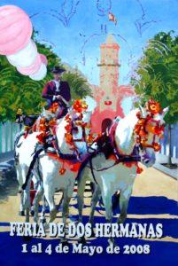 Cartel anunciador de Feria de Dos Hermanas 2008