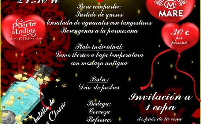 Photo of ❤️ Cena romántica por San Valentín en Mare