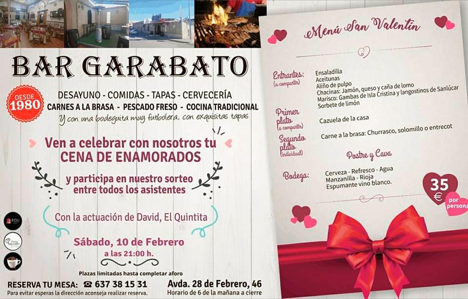 Cena de San Valentín en Bar Garabato