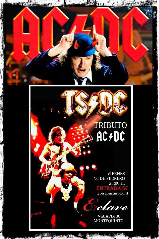 Concierto tributo a AC/DC con TS/DC en sala Enclave
