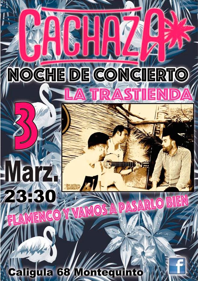 Noche de concierto con 'La Trastienda' en Cachaza Café