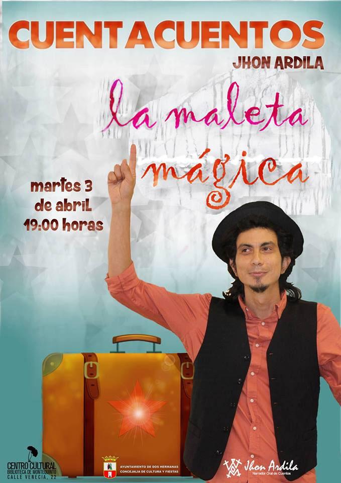 Cuentacuentos en familia 'La maleta mágica' con Jhon Ardila