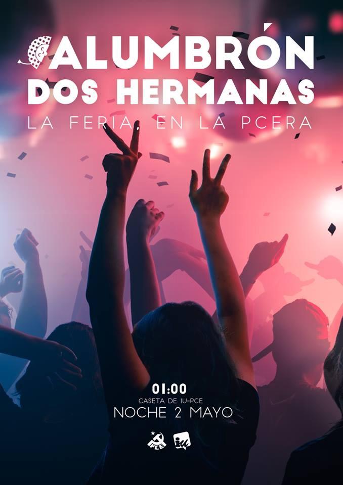 Alumbrón en la Caseta de IU-PCE - Feria de Dos Hermanas 2018