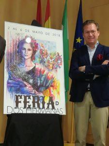 Cartel de la Feria de Dos Hermanas 2018 «Soy Feria» obra del autor Juan Miguel Martín Mena