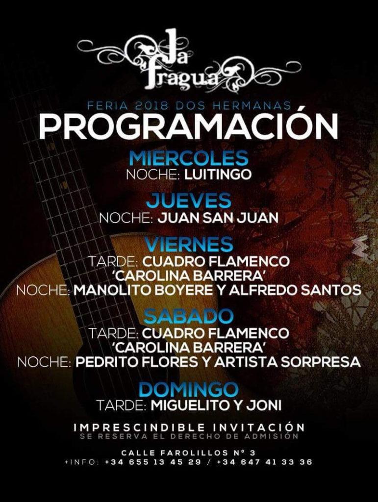 Programacion Caseta La Fragua (antigüa La Algarabía)
