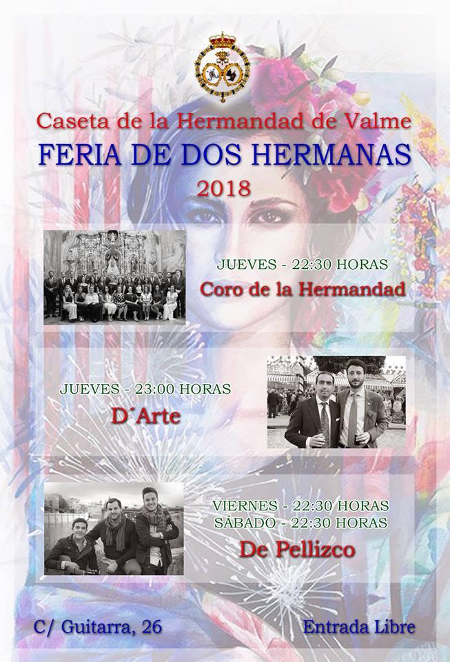Programacion de la Caseta de la-Hermandad de Valme - Feria de Dos Hermanas 2018