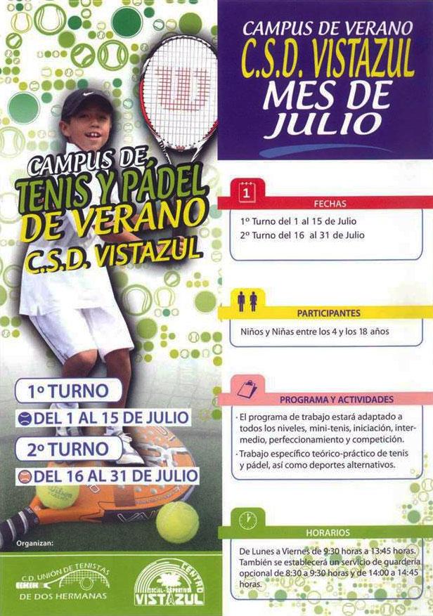 Campus de Tenis y Pádel de Verano en el CSD Vistazul