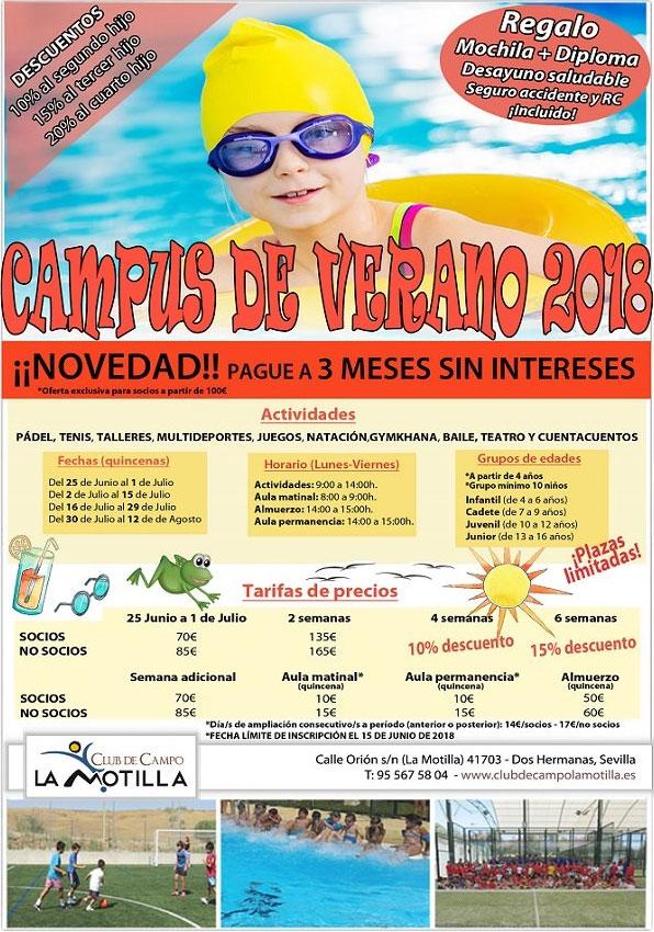 Campus de Verano 2018 - Club de Campo La Motilla