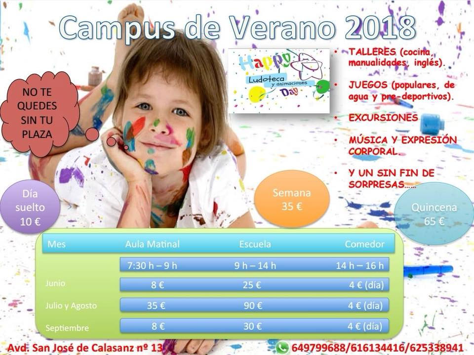 Campus de Verano 2018 Happy Day Ludoteca