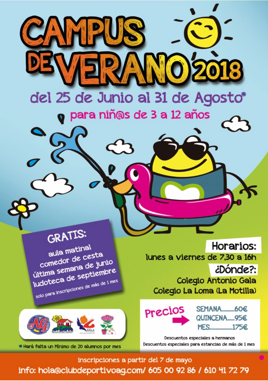 Campus de Verano 2018 en Colegio Antonio Gala y Colegio La Loma