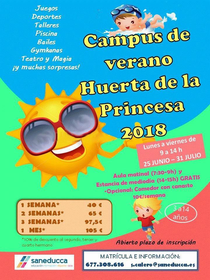 Campus de verano Huerta de la Princesa 2018