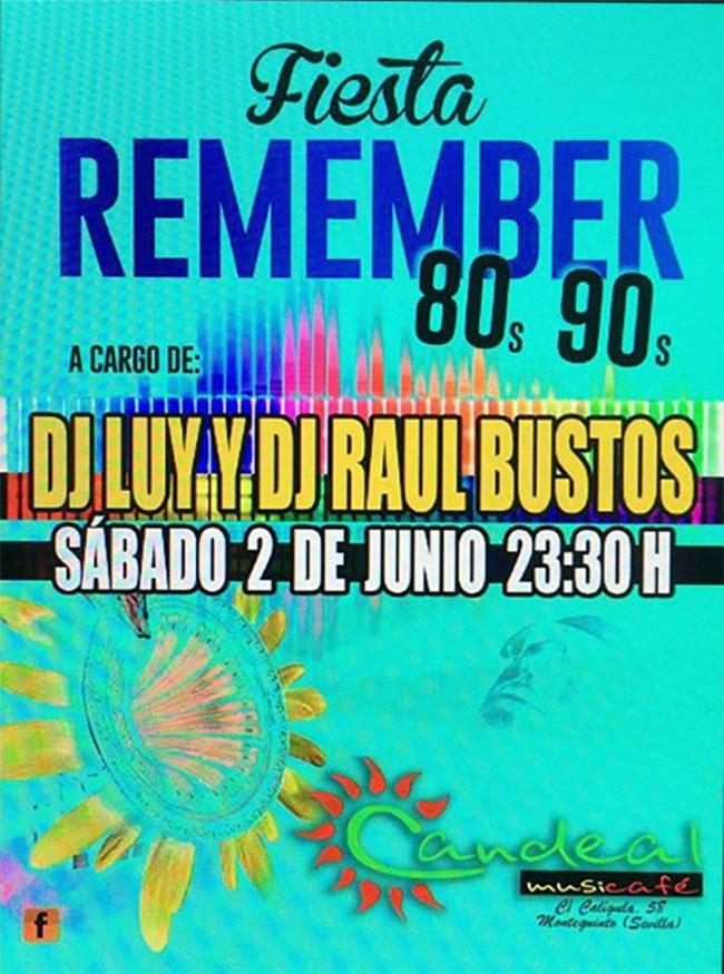 Fiesta Remember en Cadeal Musicafé