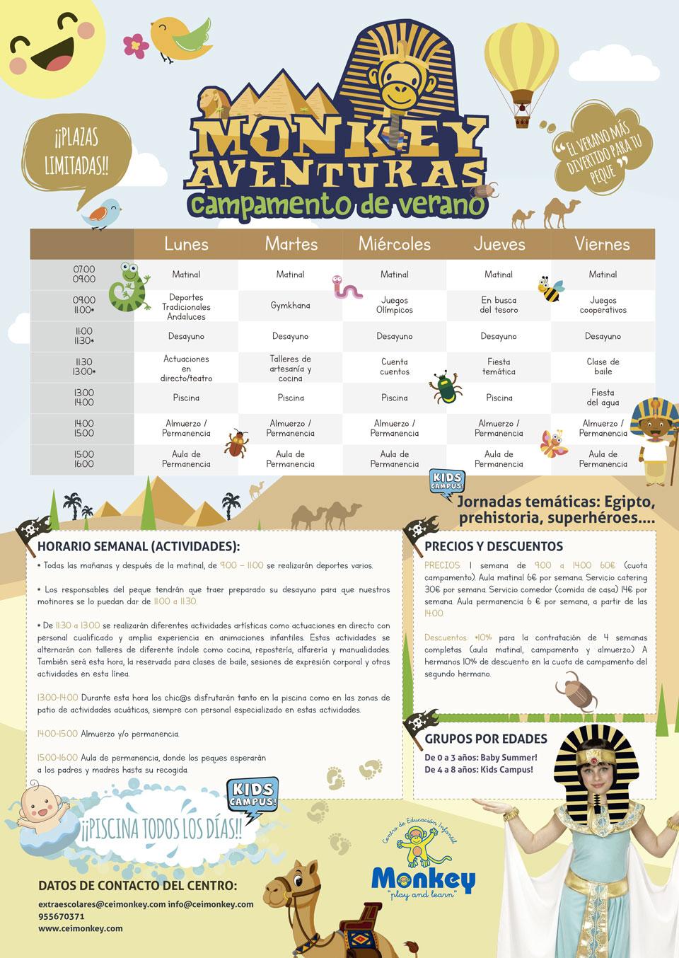 Campamento de verano Monkey Aventuras 2018 en CEI Monkey