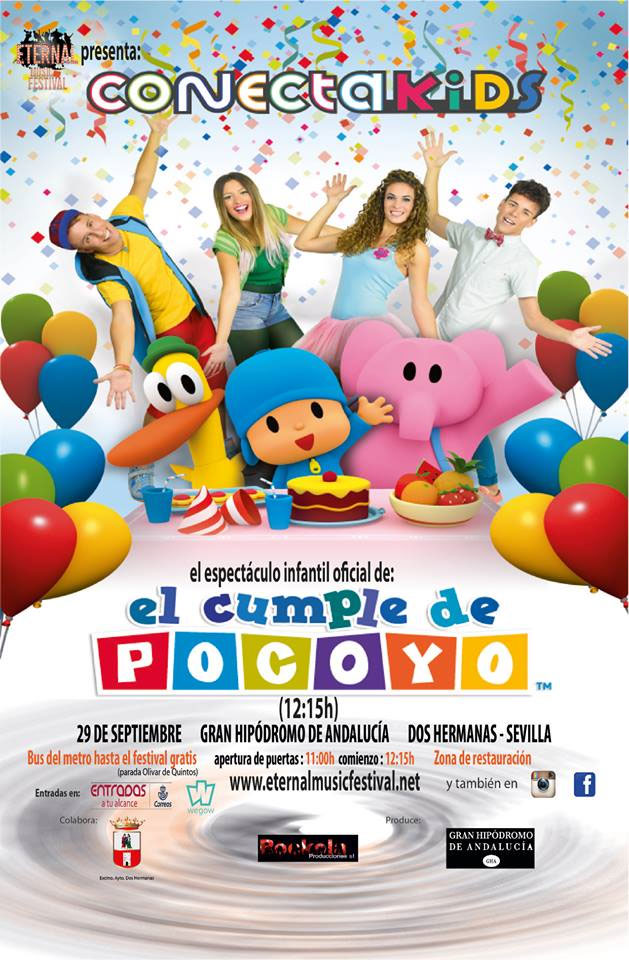 """El espectáculo oficial de Pokoyó y Conecta Kids """"El cumple de Pocoyó"""""""