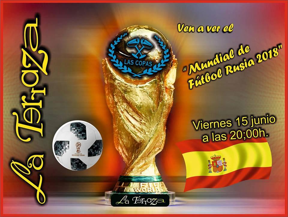 """Mundial de Fútbol 2018 en Terraza """"Las Copas"""""""