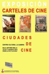 """Esposición carteles de cine """"Ciudades de Cine"""" en el Centro Cultural La Almona"""