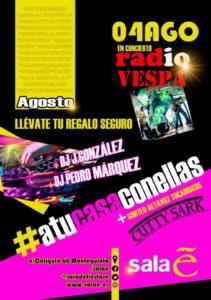 Fiesta del Verano en Sala E con la actuación de Radio Vespa