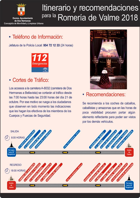 Itinerario y recomendaciones para la Romería de Valme 2018