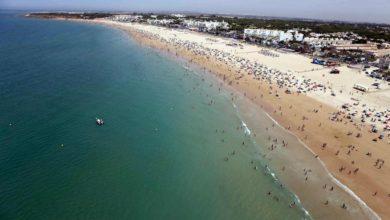 Playa de la Barrosa en Chiclana de la Frontera (Cádiz)