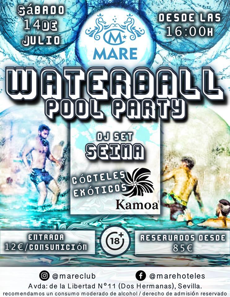 Waterball Pool Party en MARE