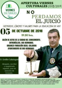Conferencia del juez de menores Emilio Calatayud en la Ciudad del Conocimiento