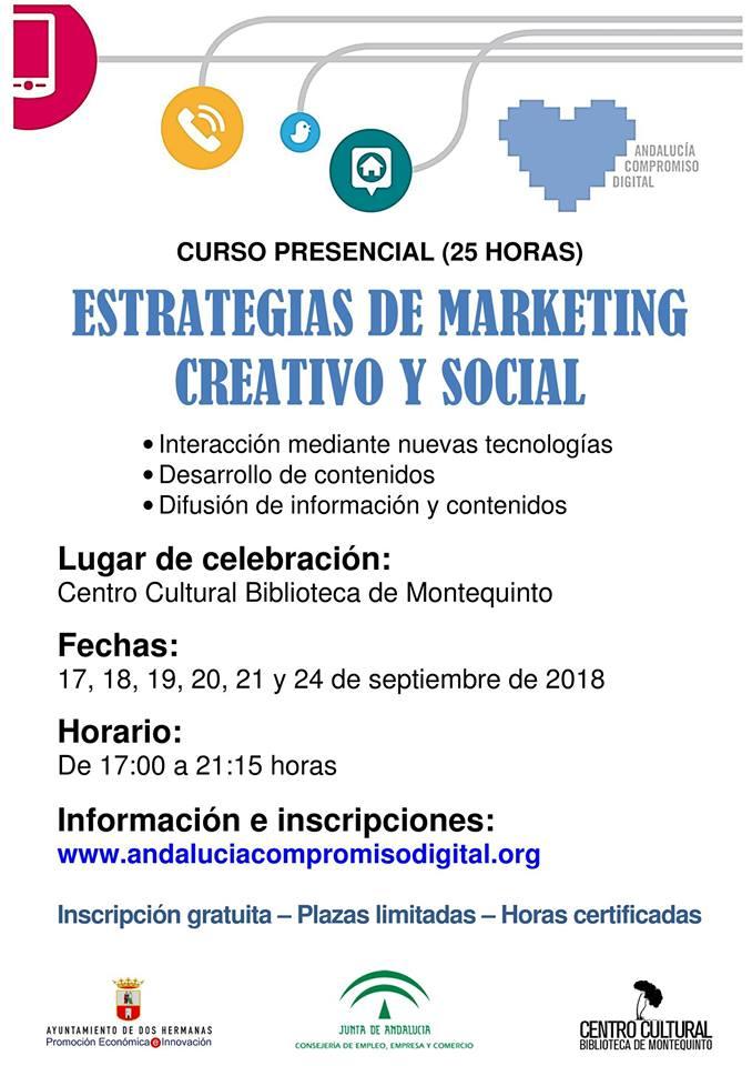 Estrategias de marketing creativo y social 2018