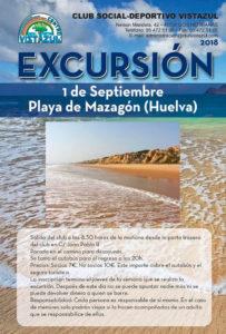 Excursión a la Playa de Mazagón (Huelva) organizada por CSD Vistazul