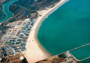 Playa de Valdelagrana en el Puerto de Santa María Cadiz