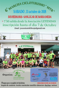 """6ª Marcha Cicloturismo """"MTB"""" Dos Hermanas - Sanlucar de Barrameda"""
