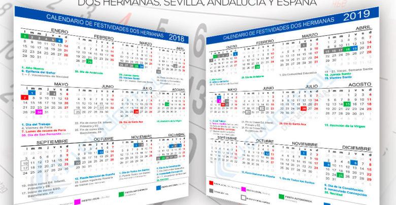 Calendario de festividades y días no lectivos de Dos Hermanas 2018 -2019