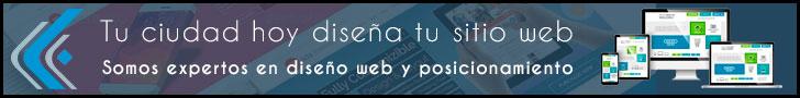 Diseñamos tu sitio web 728 x 90 y 300 x 100