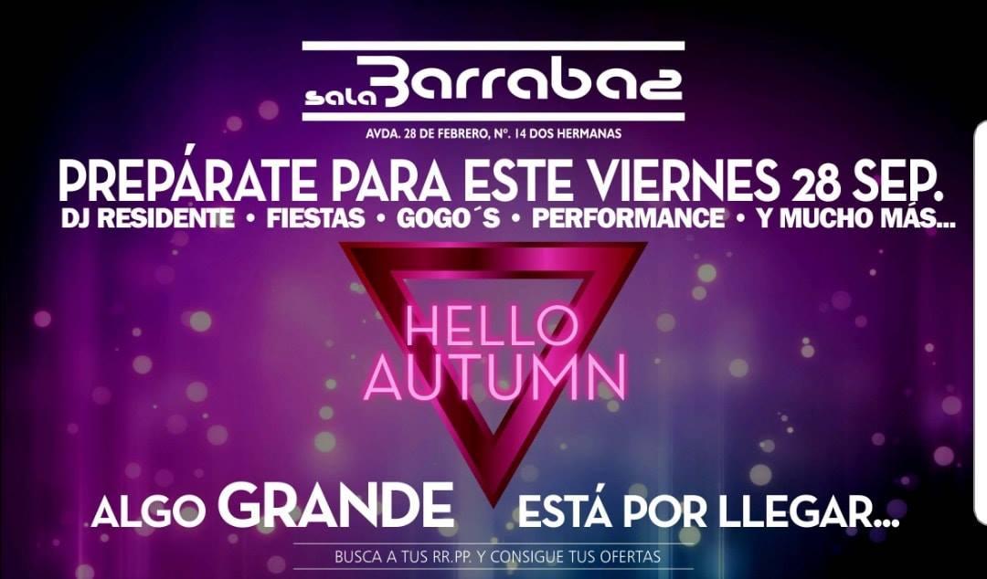 Fiesta Hello Autumn en Sala Barrabas