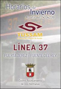 Horarios de invierno Tussan Línea 37 - Puerta de Jerez - Fuente del Rey