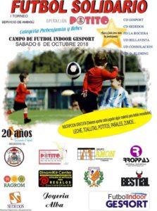 """I Trofeo de Fútbol Solidario """"Operación Potito"""" 2018"""
