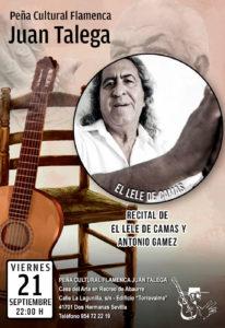 Recital Flamenco Lele de Cama y Antonio Gamez en Peña Juan Talega