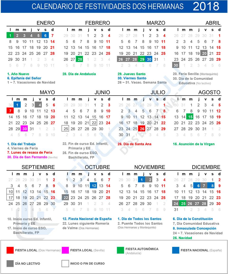 Calendario de festividades de Dos Hermanas 2018