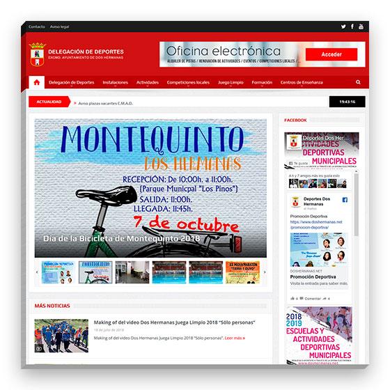 Sitio web Delegación de Deportes