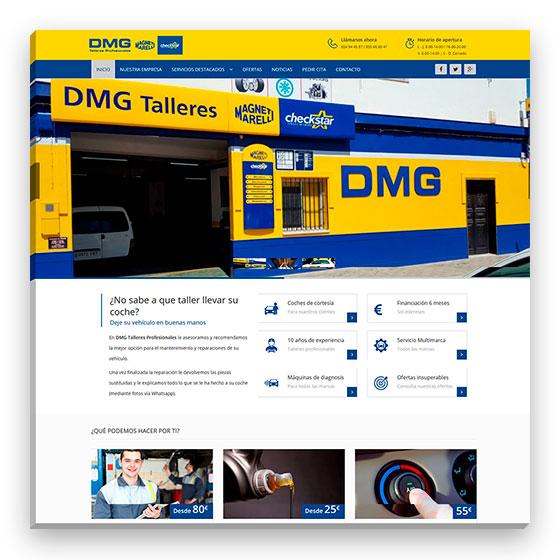 Sitio web DMG Talleres