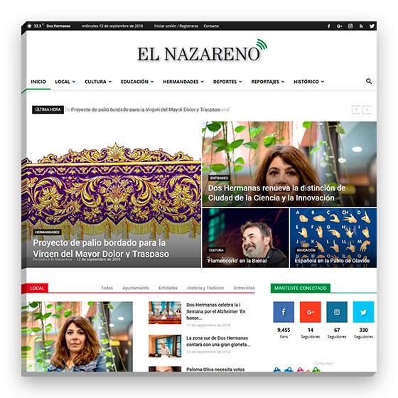 Sitio web Periódico El Nazareno