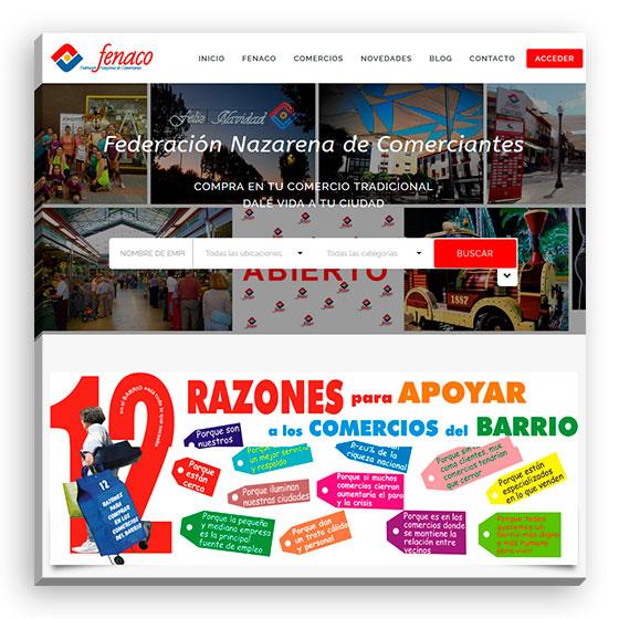 Sitio web Fenaco