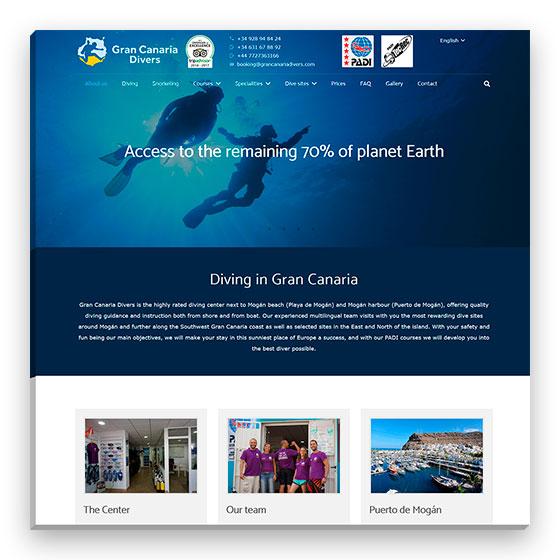 Sitio web Gran Canaria Divers