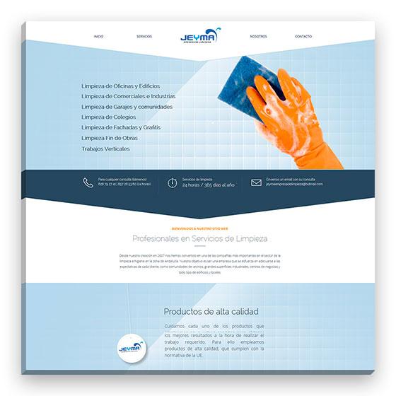 Sitio web Jeyma empresa de limpieza
