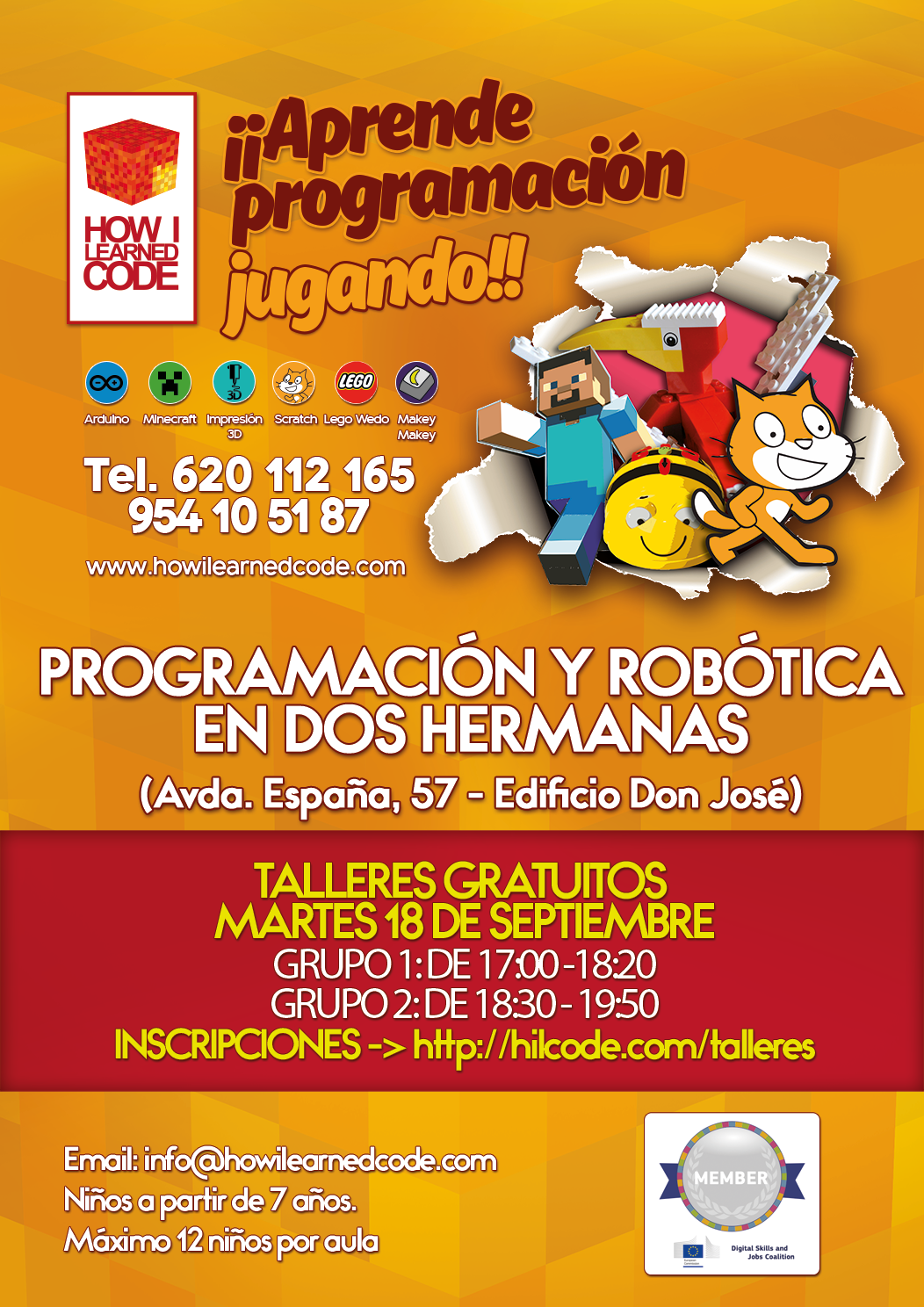 taller gratuito programacion y robotica para ninos
