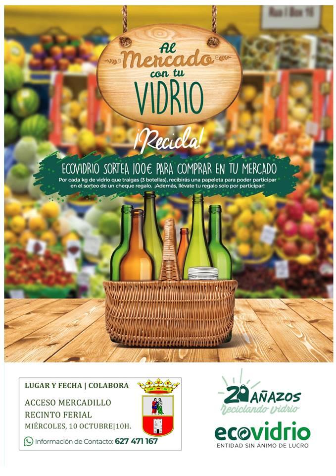 """Campaña """"Al Mercado con tu Vidrio"""" en el Mercadillo de los Miércoles"""