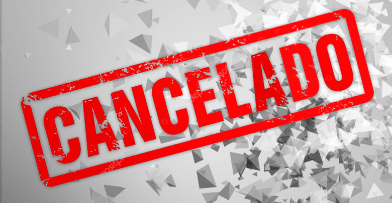 Actividad cancelada