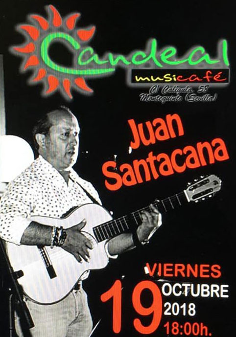 Juan Santacana en Candeal Café en Montequinto